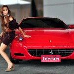 Woman with Ferrari