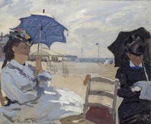 La plage de Trouville, 1870, National Gallery, London