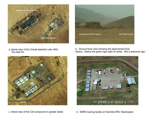 Figure  :CIA Detention Site COBALT and the SERE Facility at Fairchild AFB.