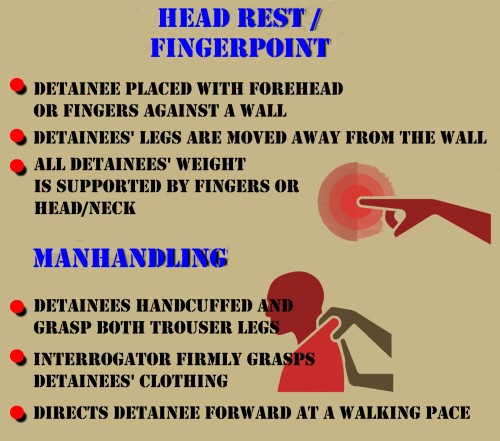 Figure 10: Manhandling & Head Resting / Fingerpointing