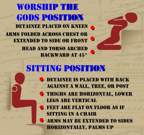 Figure 9: Stress Positions (Sitting & Position)