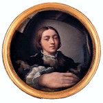 The first self-portrait was by Francesco Mazzola (AKA Parmigianino), Self-Portrait in a Convex Mirror, 1523-24.