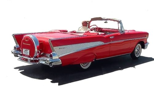 1957 Chevrolet Bel Air Convertible in Matador Red.