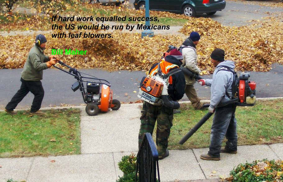 Equinox, Equilux, and Leaf Blowers